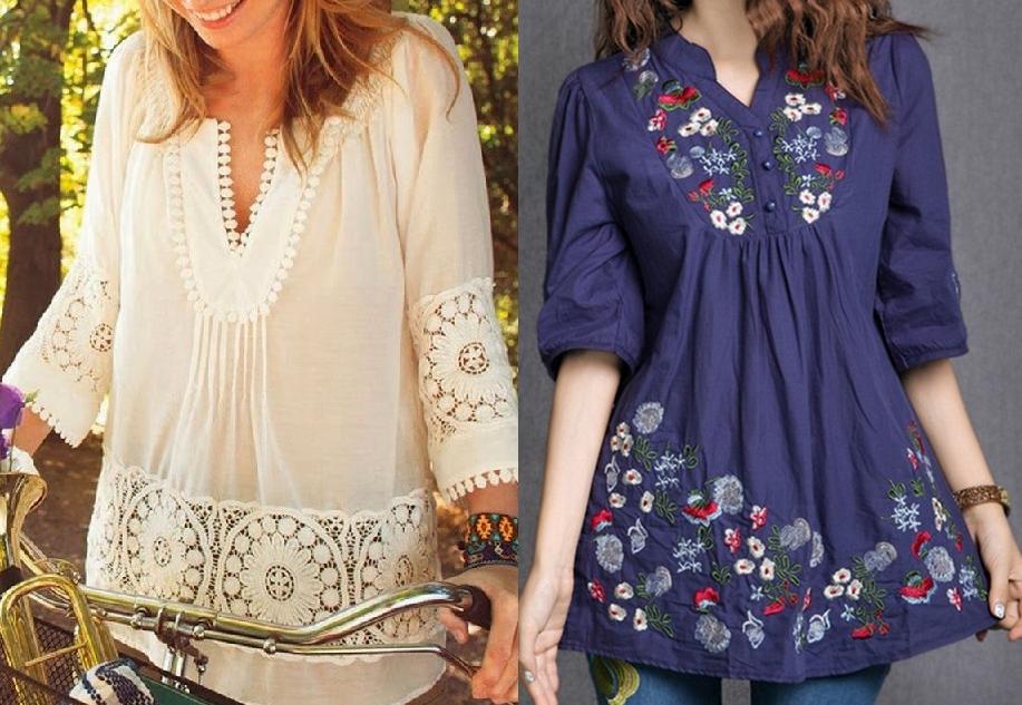 1211f7baf Bata manga 3/4 | costura blusa | Sewing clothes, Tunic blouse e ...