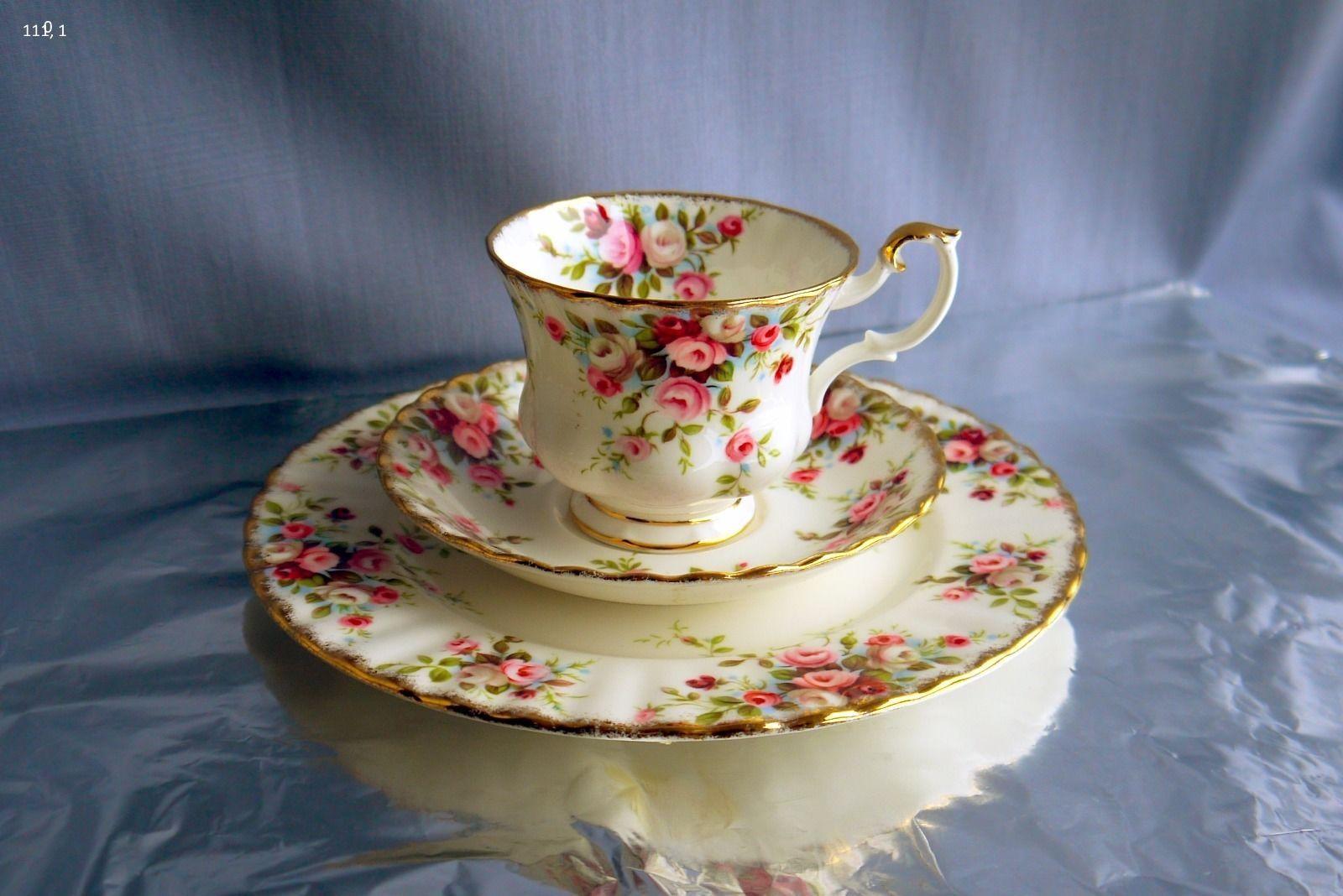 sammelgedeck sammeltasse royal albert cottage garden england ebay tea time. Black Bedroom Furniture Sets. Home Design Ideas