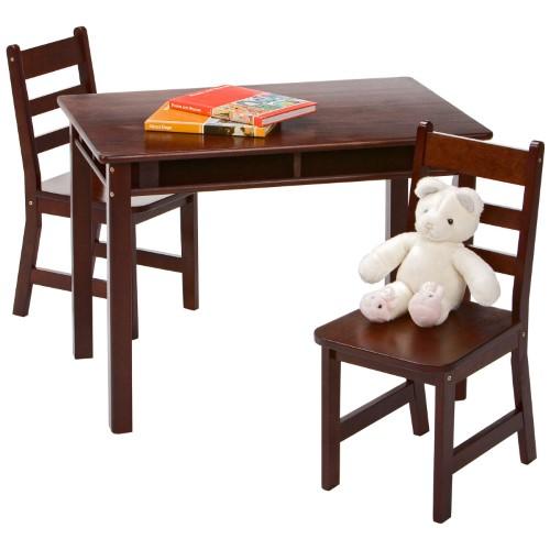 Merveilleux Lipper Childrens Rectangular Table And Chair Set, Brown