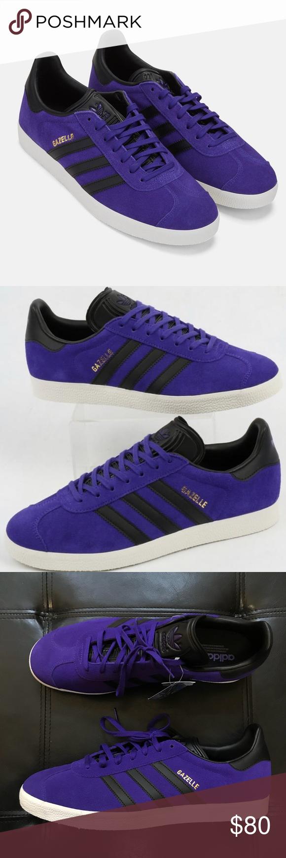 Purple suede, Adidas gazelle black