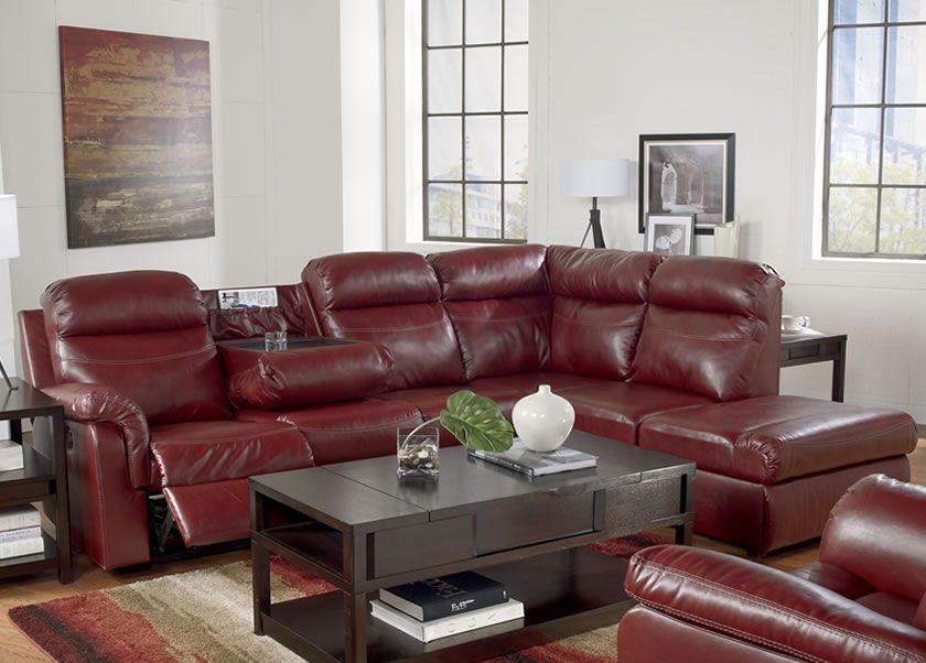 Reclining Sectional Sofa Red