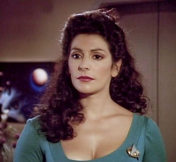 Deanna Troi played by Marina Sirtis | Deanna troi, Star