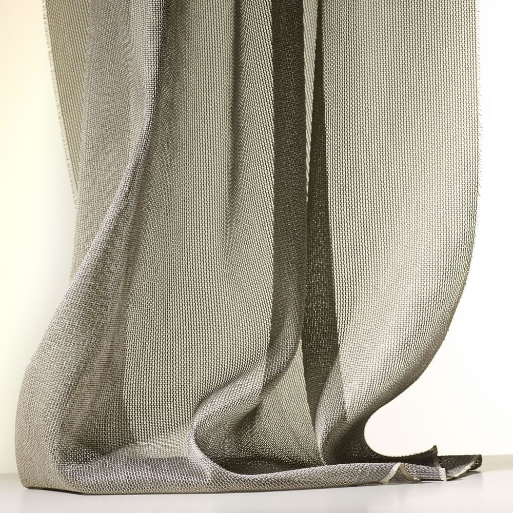 Zen By Dedar This Metallic Leno Weave Mesh Has A Natural Look And Is Full And Soft When Hung Fire Retardant Washable Curtains Curtain Fabric Sheer Curtain