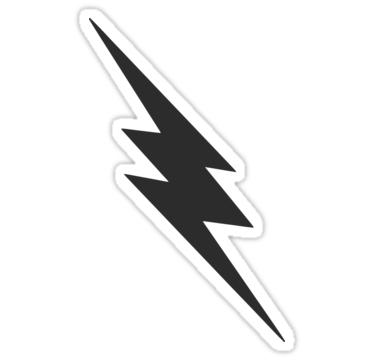 Dark Gray Lightning Bolt Sticker By Spacealientees Lightning Bolt Black Lightning Bolt