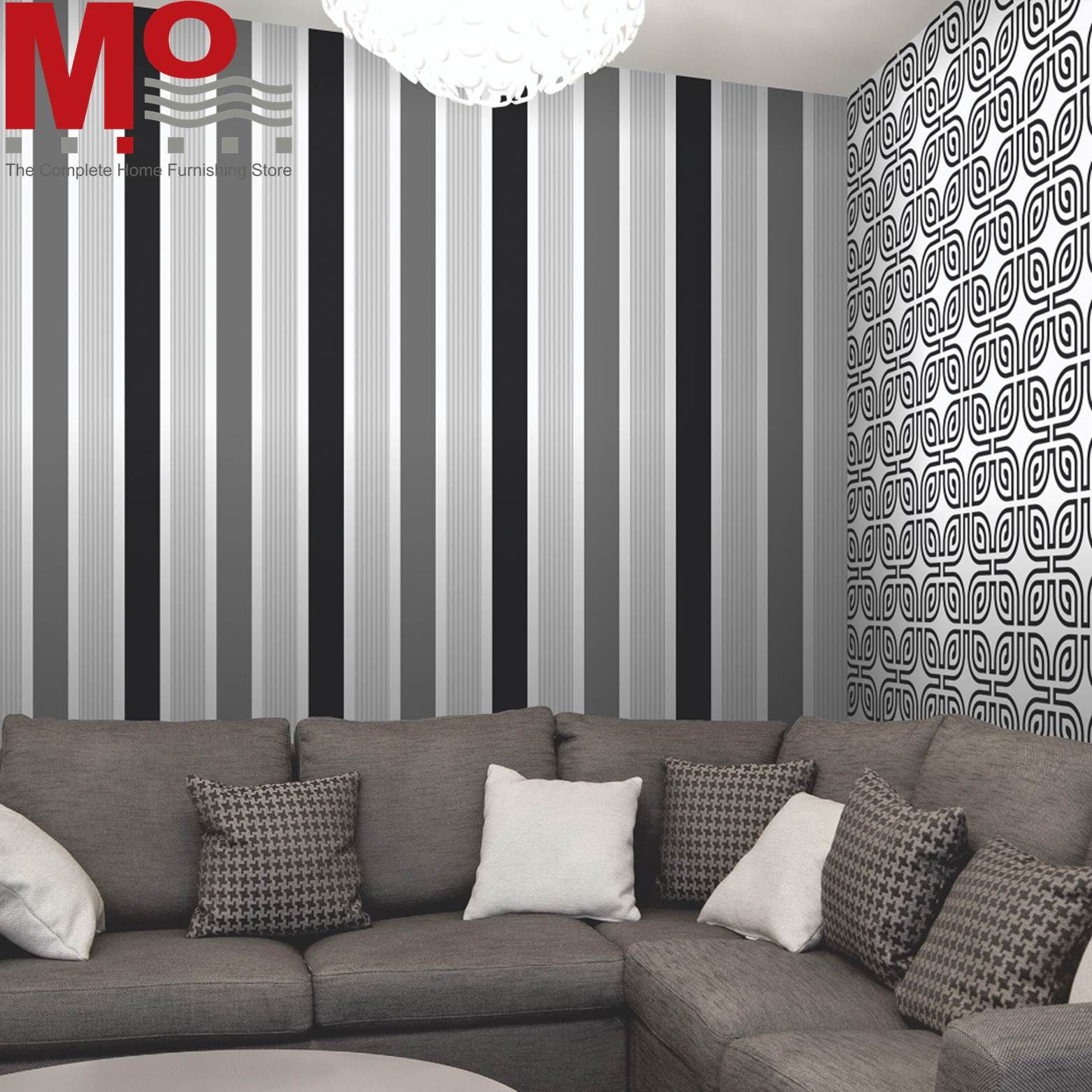Give Your Walls Modern Look By Using Stripes Wallpaper Add Rich Colour And Pattern To Any Room In Striped Wallpaper Striped Wallpaper For Walls Home Wallpaper