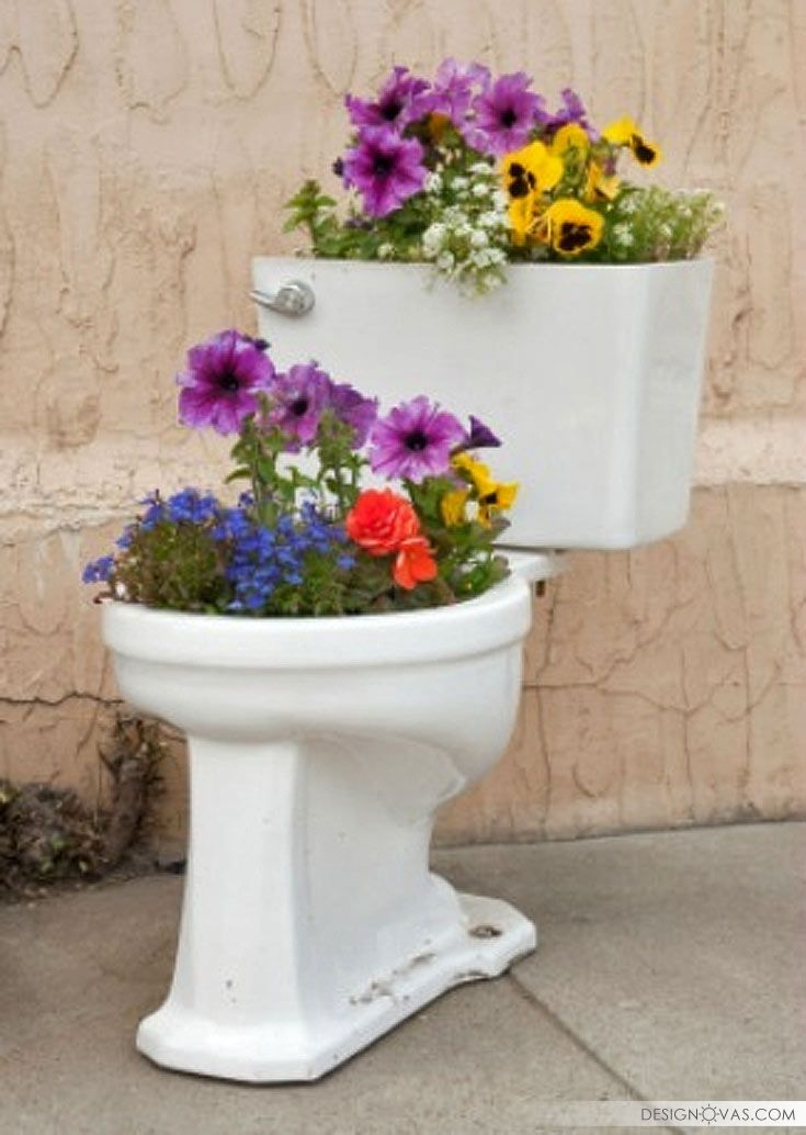30 Brilliant Ideas To Reuse Old Toilet Bowls Toilet Used Dekor Awesome Flower Pots Garden Art Recycling