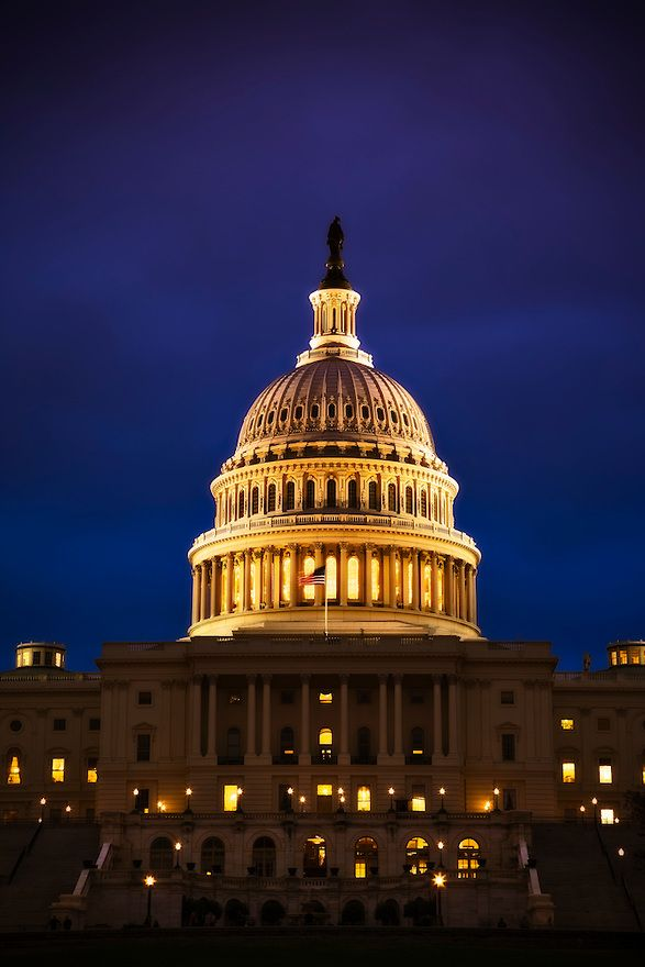 The United States Capitol In Washington Dc Is One Of The Most