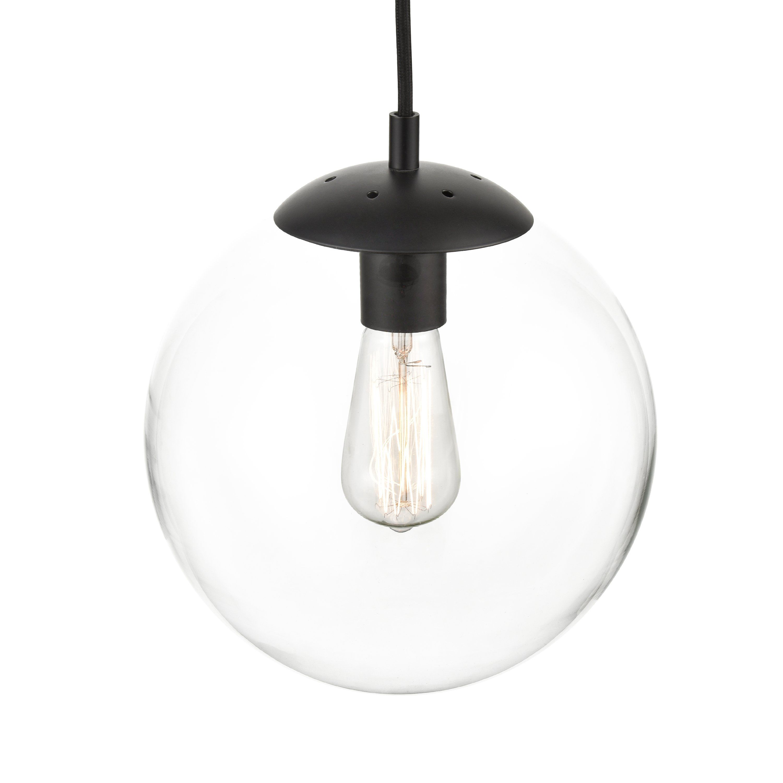Zeno Globe Pendant Globe Pendant Black Pendant Light Industrial Ceiling Fan Light