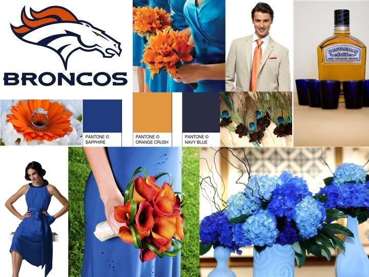 denver bronco orange and blue inspired wedding pantone wedding styleboard the dessy group - Denver Bronco Colors