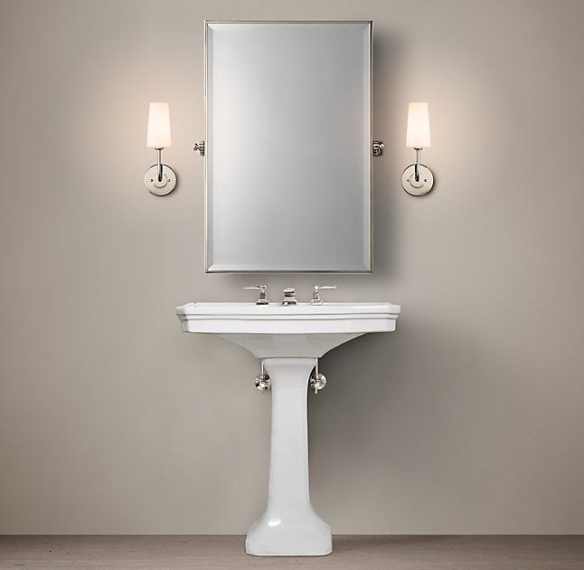 **TOO SHORT? SAME HEIGHT AS EXISTING** Park Pedestal Sink. Small