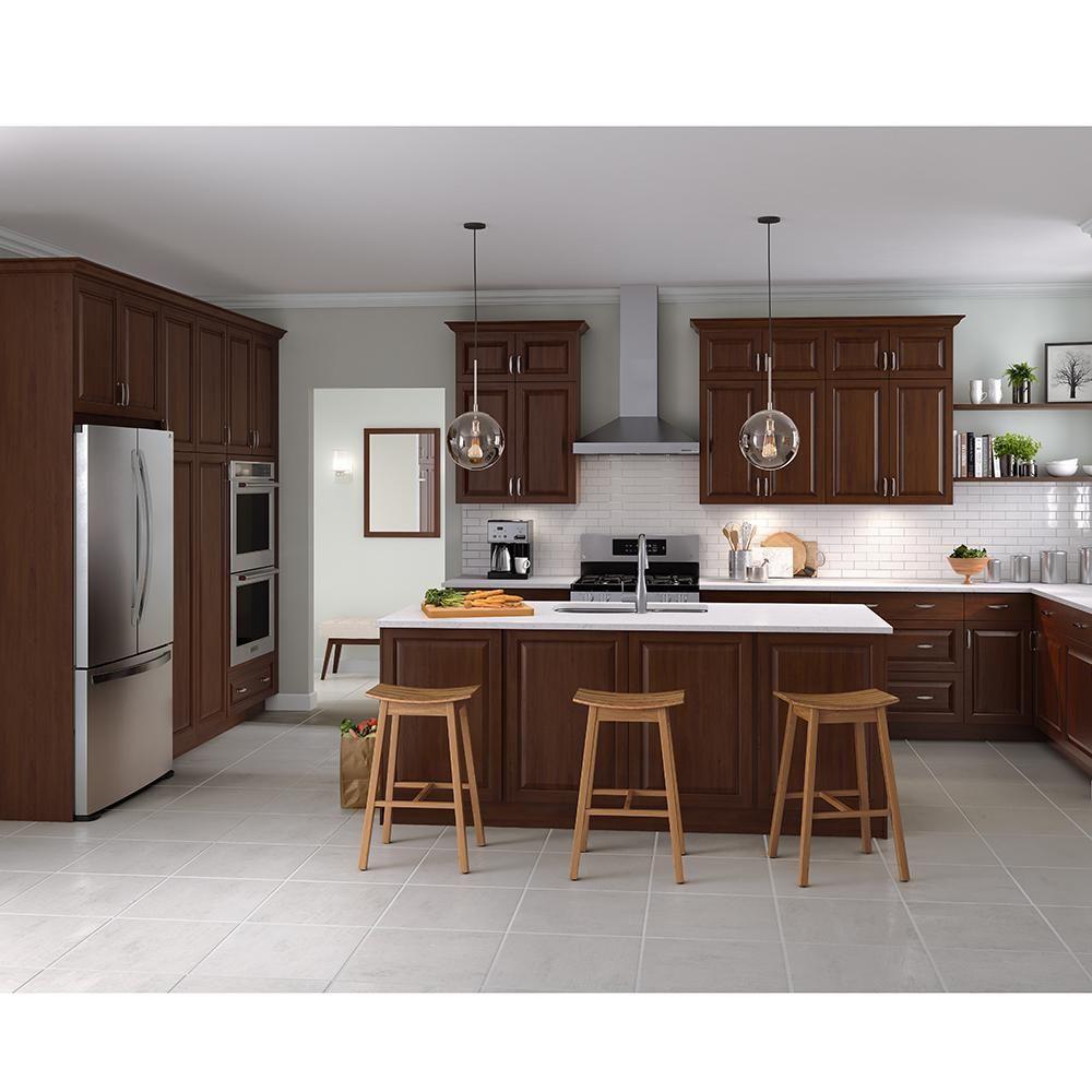 Pin By Ivonete Cruz On Kitchen In 2020 Kitchen Cabinet Color Schemes Walnut Kitchen Cabinets Cherry Cabinets Kitchen