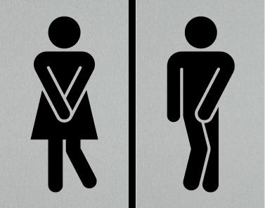 Female Restroom Sign Red Hi Toilet Wanita Gambar
