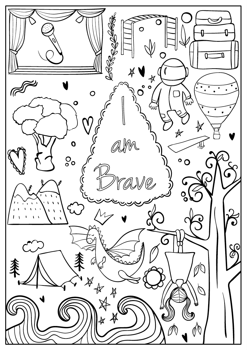 I Am Confident Brave Beautiful A Coloring Book For Girls Coloring Books Free Coloring Pages Coloring Pages