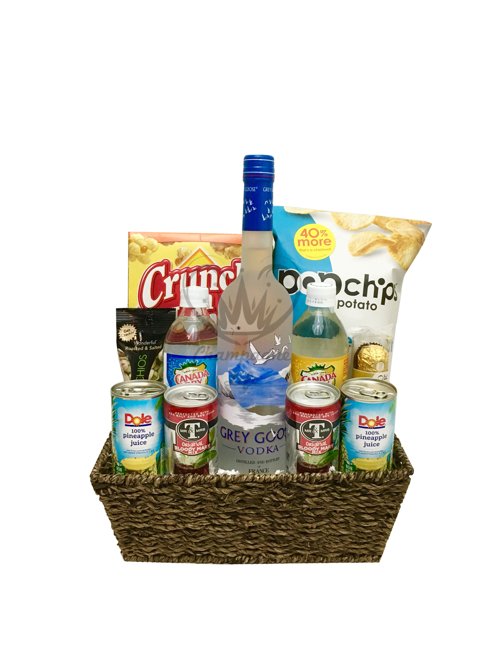 The Grey Goose Gift Basket Is Available For Same Day Delivery In Las Vegas NV Baskets Corporate Gifts And More