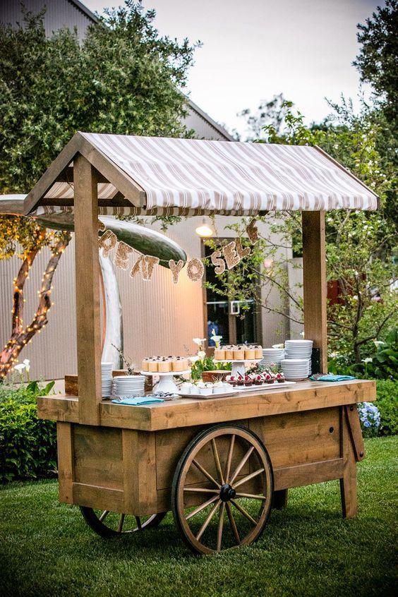 Rustic Wedding Food Bar Decor / http://www.deerpearlflowers.com/country-rustic-fall-wedding-theme-ideas/2/