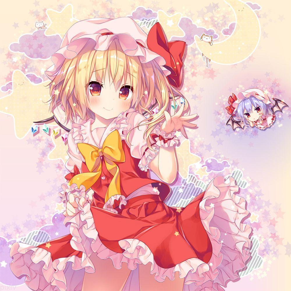 フランドール・スカーレット、レミリア・スカーレット | 東方 (Touhou Project) | Pinterest | Anime and Illustrations