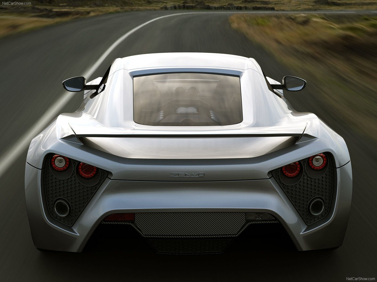 Zenvo St1 Rear View Zenvo St1 Super Cars Dream Cars