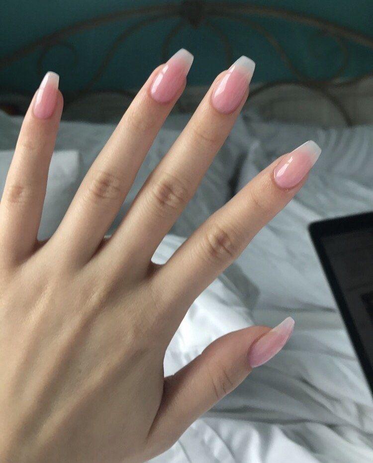 Powder nails | Almond acrylic nails, Pink acrylic nails ...