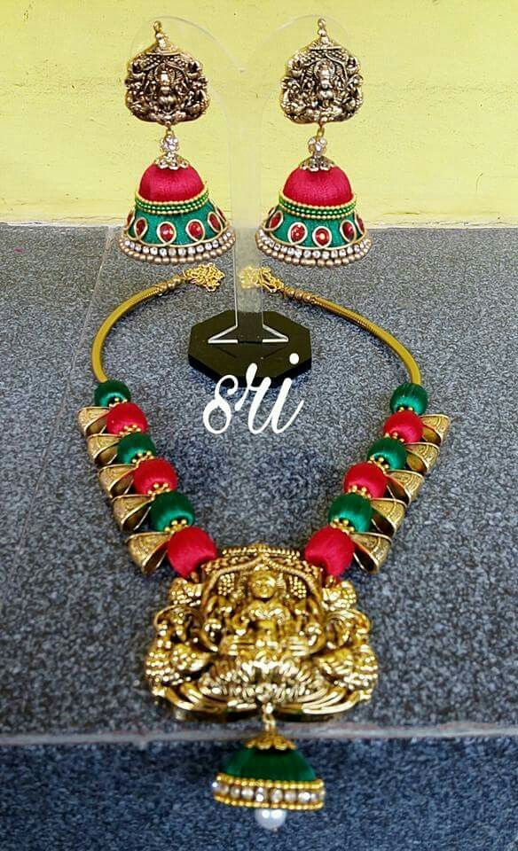 Pin de kusumaprashanthi yadati en Silk thread jewelry | Pinterest