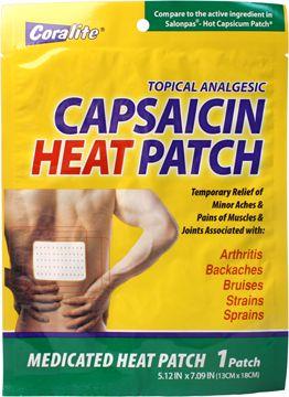 Coralite Capsaicin Heat Patch | Heat patches, Capsaicin, Backache