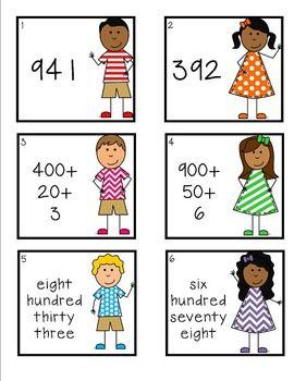 standard form kids  Expanded Form, Standard Form, Word Form Write the Room Task ...