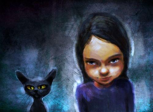 made by: Jeremy Norton , illustration - (Black cat)