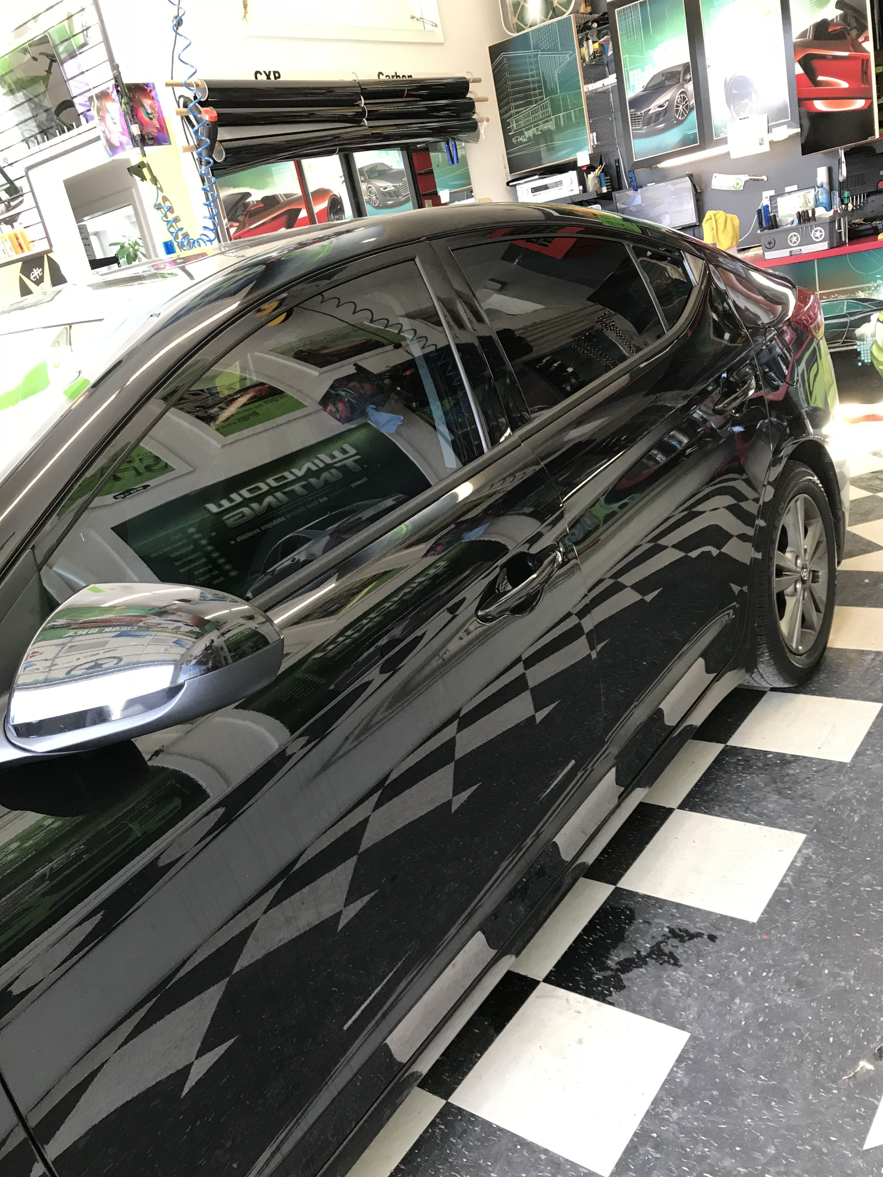 Just Did A Full Tint On This New Hyundai Elantra Looks Fresh Already Lots Of Heat Blockage And Uv Protection Better For The Interior Of The Car And Most Im