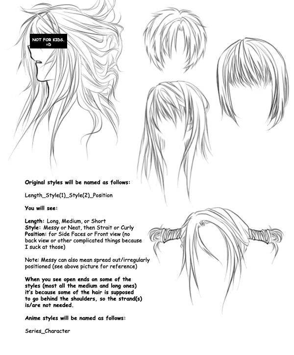 Anime hair brushes O in 2019 | Photoshop hair, Drawing ...