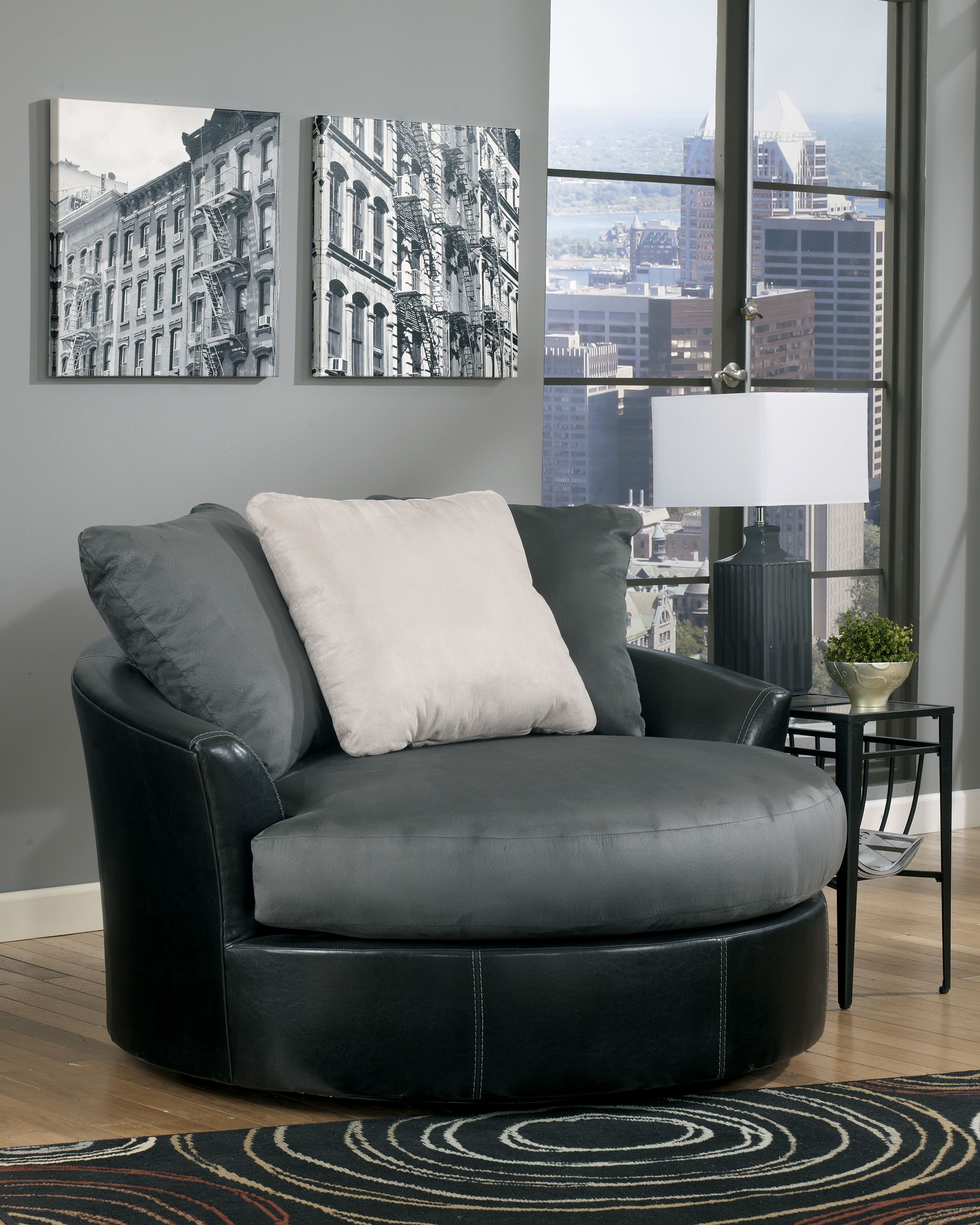 swivel accent chairs for living room. Flawless Masoli  Cobblestone Oversized Swivel Accent Chair turns any living room into the relaxing