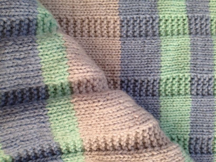 Simple Striped Baby Blanket Free Pattern Chicks With Sticks