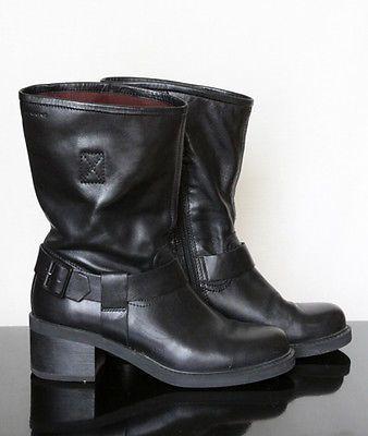 59b4638fdd Black-Leather-Vagabond-Wichita-Harness-Biker-Cowboy-Boots-UK5-EU38-RRP-140
