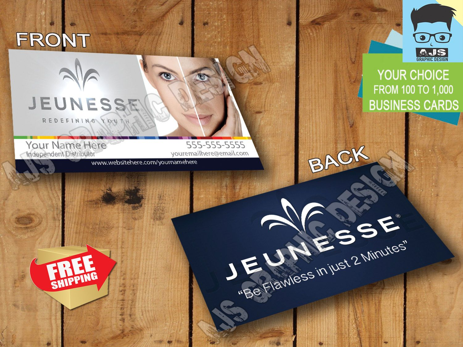 Jeunesse Global Business Cards • Customized • Order from 100 to ...
