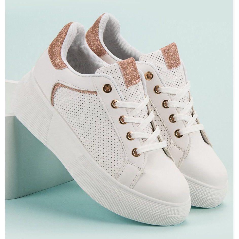 Buty Sportowe Z Brokatem Biale White Sneaker Chanel Shoes Shoes