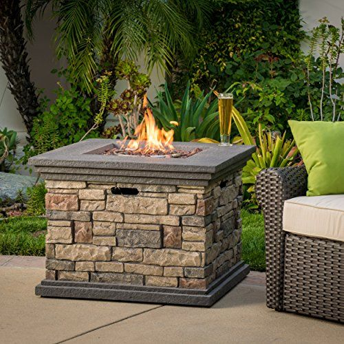 Crawford Outdoor Square Liquid Propane Fire Pit With Lava Rocks Backyard Fire Outdoor Fire Pit Outdoor Propane Fire Pit