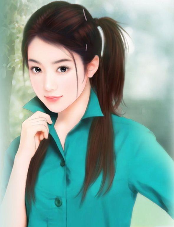 Chinese Art 中国美人画 イラスト 絵画 アート Og 絵