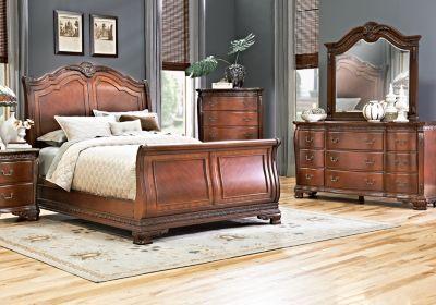 Cortinella Cherry 5 Pc King Sleigh Bedroom Living