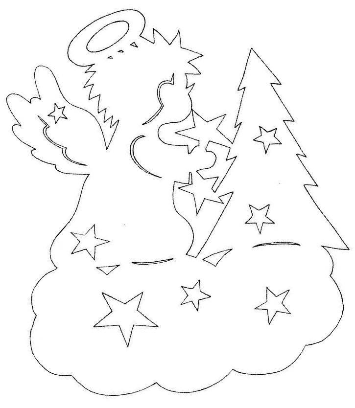 Поделки к новому году 2014 украшения для окон из бумаги шаблоны