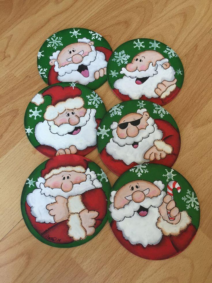 Portavasos navide os navidad portavasos caritas for Decoracion christmas navidenos