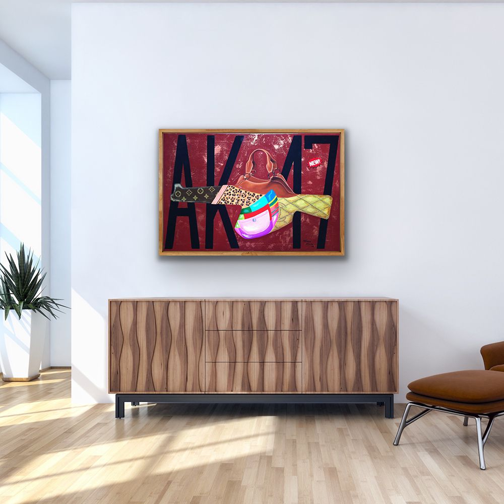AK-47, Oil on canvas, 60 x 90 cm Worldwide Shipping, Link for order #artroomsapp #artportfolio #paintingsdaily #loveart #artroom #painting #artprojects #artspace #artroomdecor #artforeveryone #todaysart #studioart #livingroom #interiordesing #decoration #interior4you #artforsale #interiorstyling #home #interior4all #homestyle #interiorforyou #homedeco #interiordesign #homelovers #housedecoration #housedecor #homeinterior #homedesign #interiordecoration
