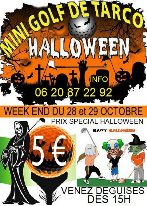 Halloween au Mini Golf de Tarco Golf, Mini golf, Halloween