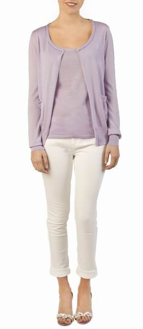 Cashmere Cardigan in Lavender http://www.londonw11.com/cashmere ...
