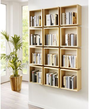 Elegant Memo.de, Bookshelf, Bücherregal, Bücherboxen Bücherregale, Innenarchitektur,  Kreativ, Selber