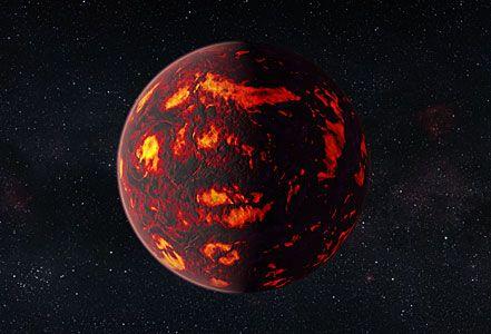 Artist's impression of 55 Cancri e (close-up)