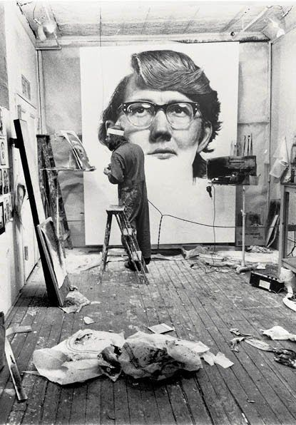 Image result for chuck close airbrush