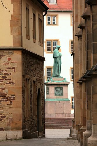 The loneliness of Schiller . Stuttgart Germany