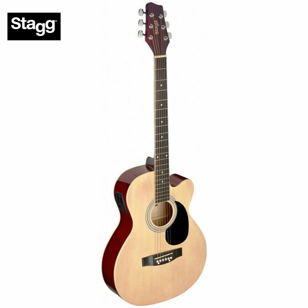 Stagg Sa20ace Full Size Cutaway Auditorium Acoustic Electric Guitar Brand New 882030225536 Ebay In 2020 Acoustic Electric Acoustic Electric Guitar Guitar