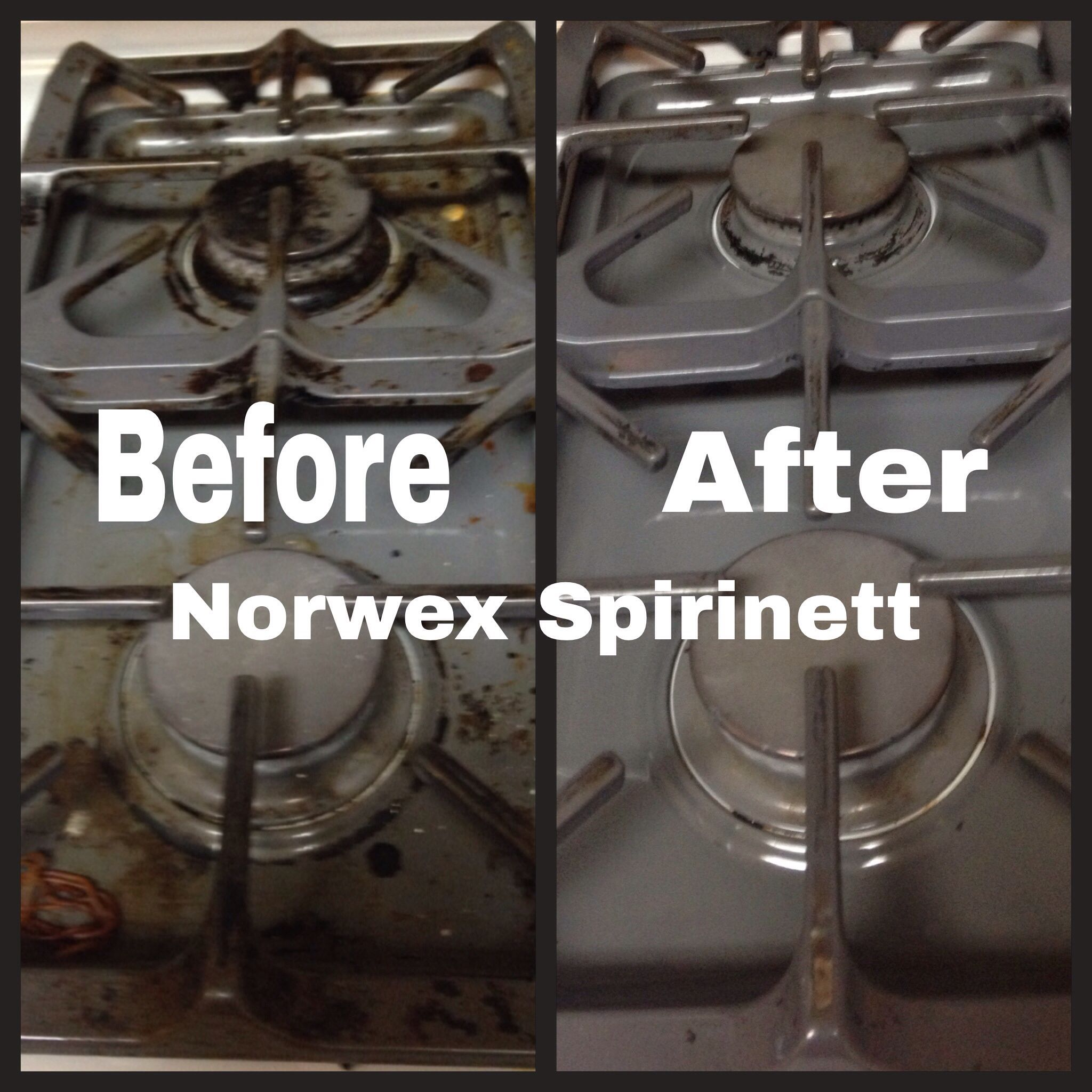 ZERO chemicals used to clean my stove! Now I have no excuse.
