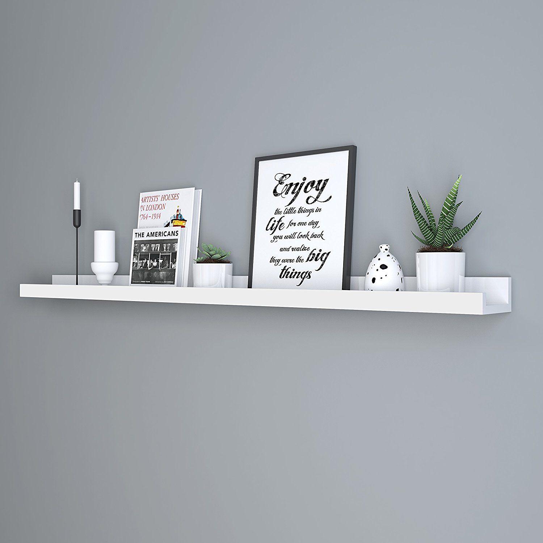 Amazon Com Songmics Wall Shelf 46 Inch Floating Shelf