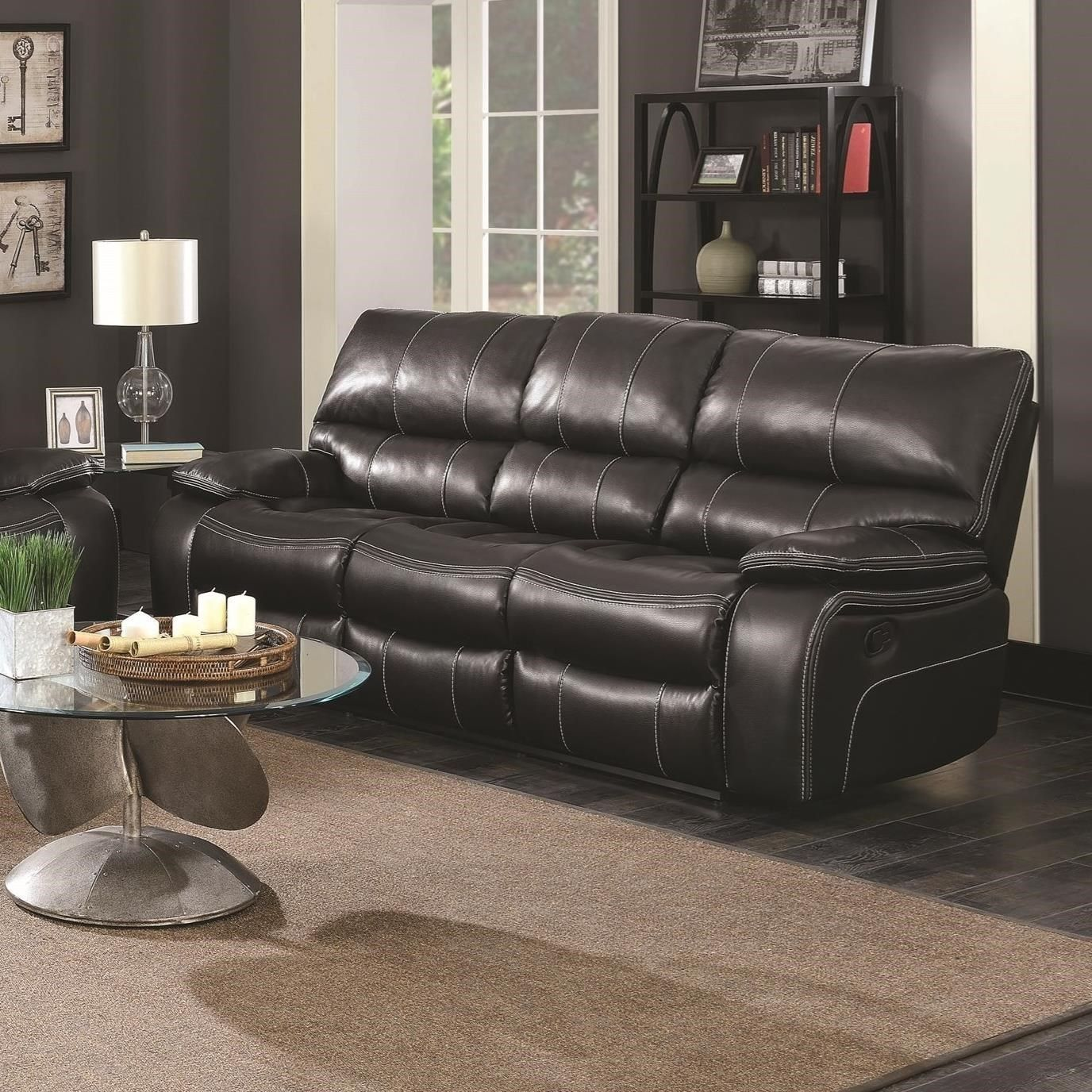 Willemse Motion Sofa With Drop Down Table By Coaster At A1 Furniture Mattress Drop Down Table Sofa Offers Reclining Sofa