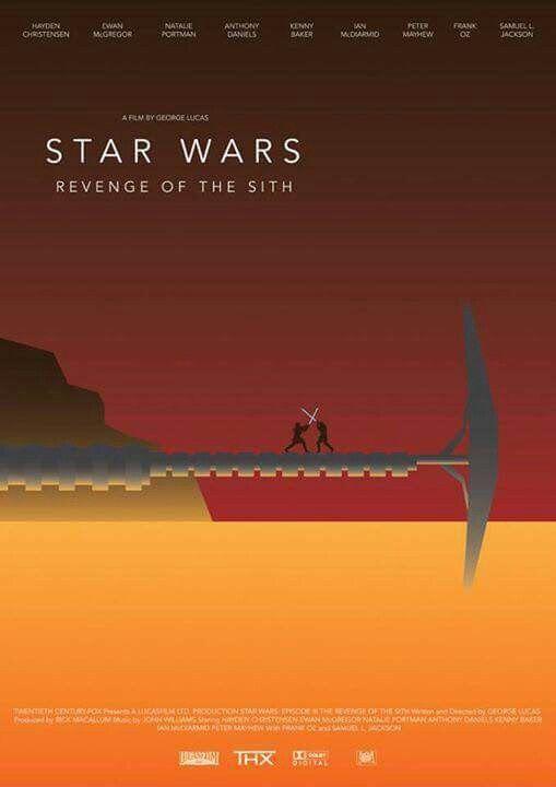 STAR WARS Episode III Revenge of Sith Minimalist Poster Posteritty Minimal Art